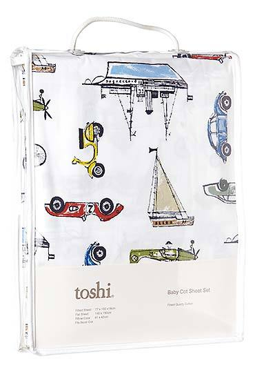 Toshi Cot Sheet Set Woven Odyssey
