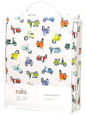Toshi Cot Sheet Set Woven Scooter