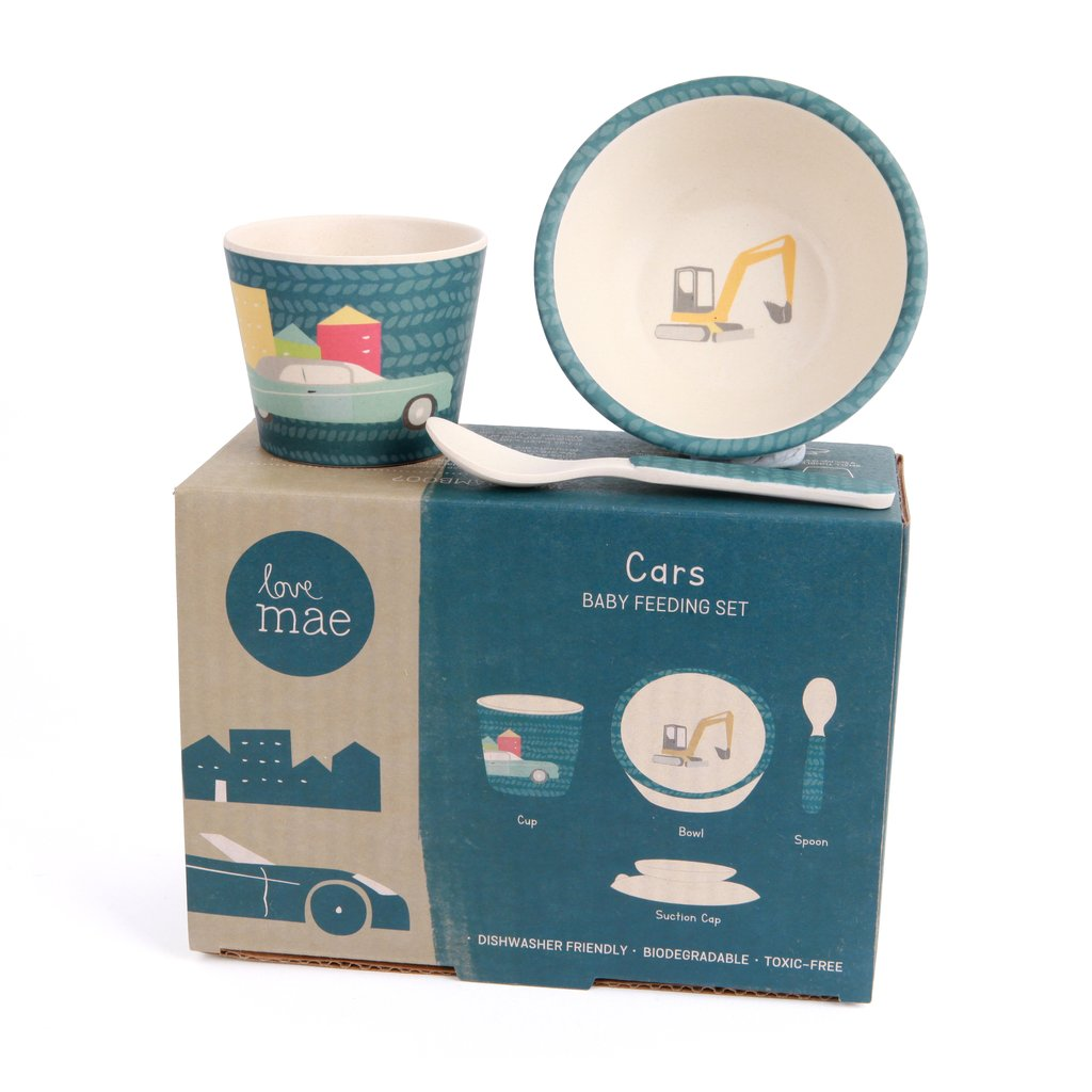 Love Mae Baby Feeding Set - Cars
