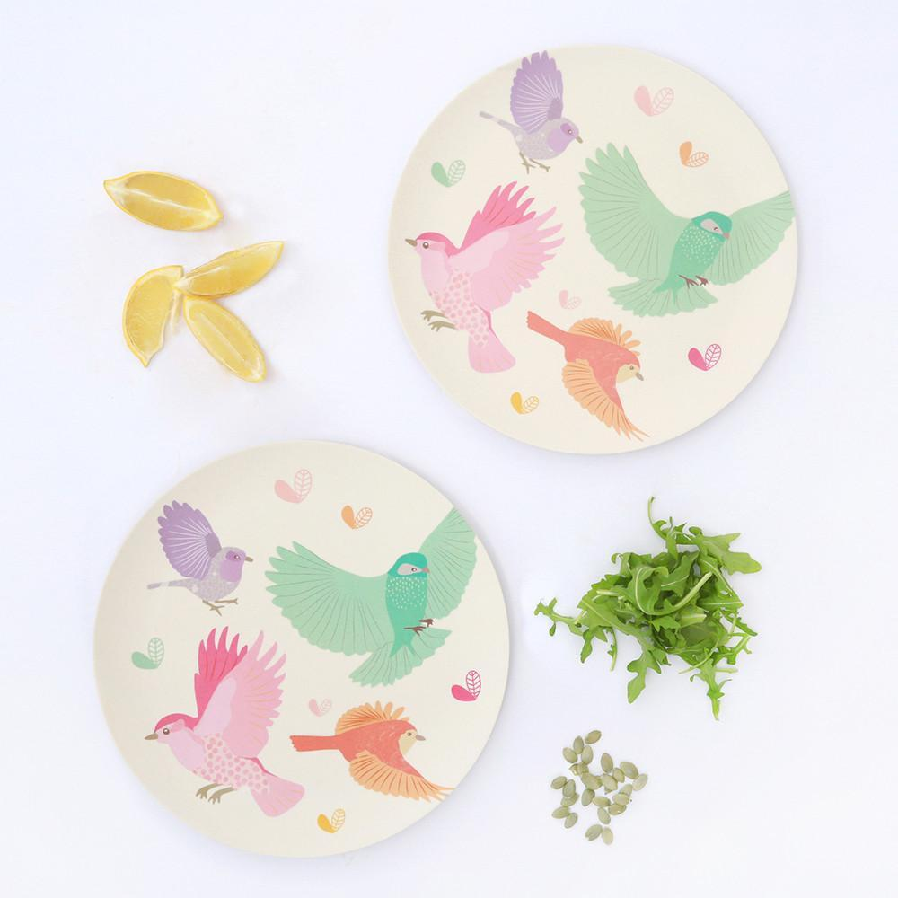 Love Mae 2pk Large Plates - Birds