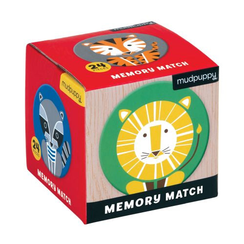 Mudpuppy Mini Memory Match - Geometric Animals