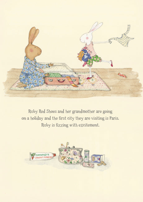 Ruby Red Shoes Goes To Paris Book