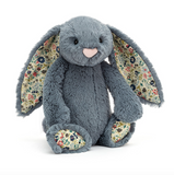 Jellycat Bashful Blossom Dusky Blue Bunny Medium