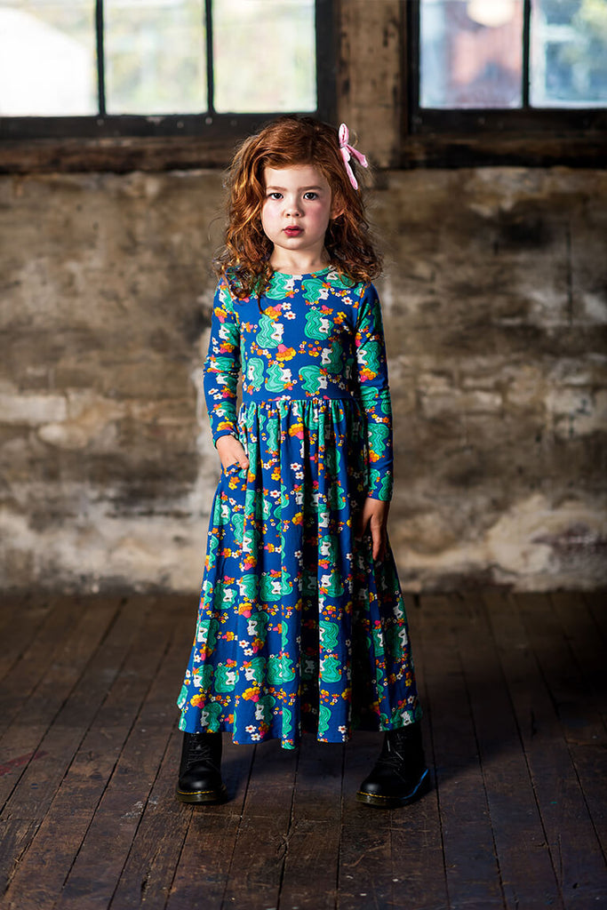 Rock Your Baby Electric Dreams LS Maxi Dress