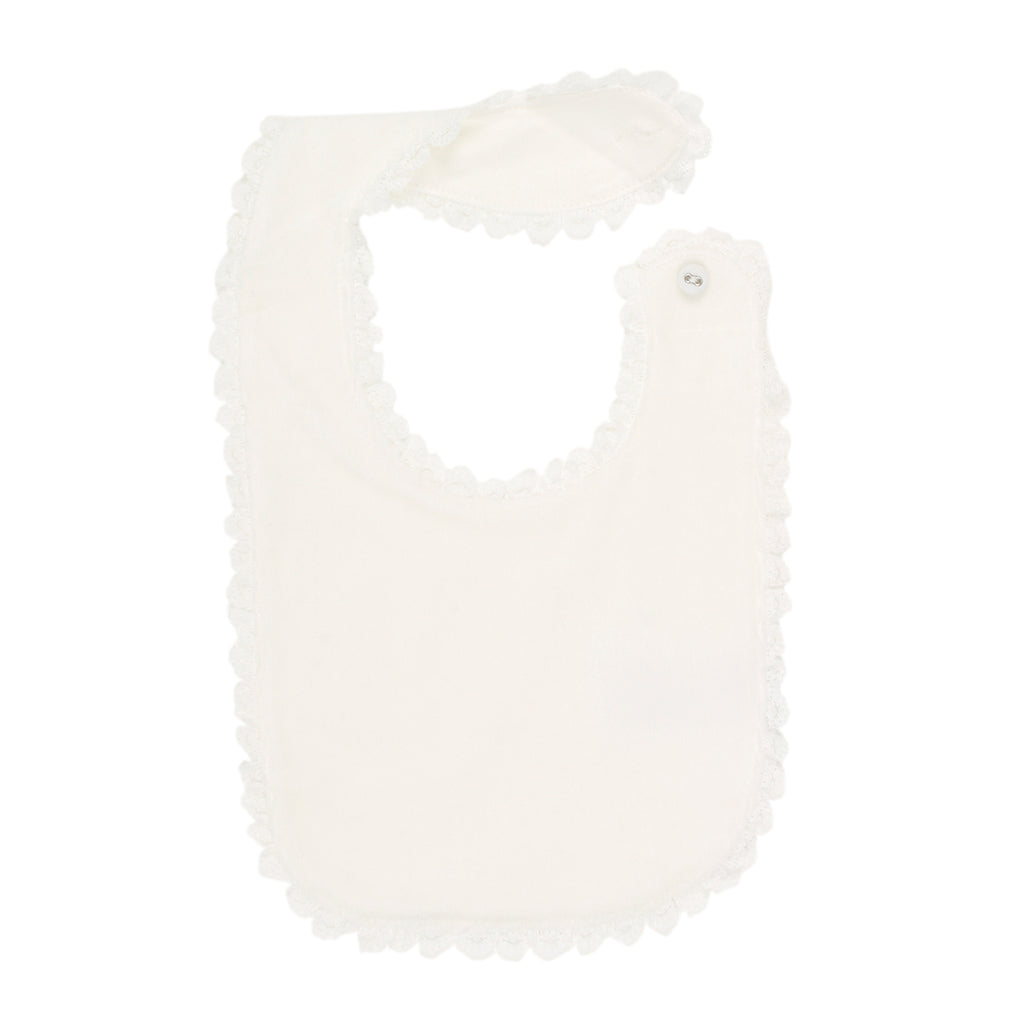 Bebe Velour Bib With Lace