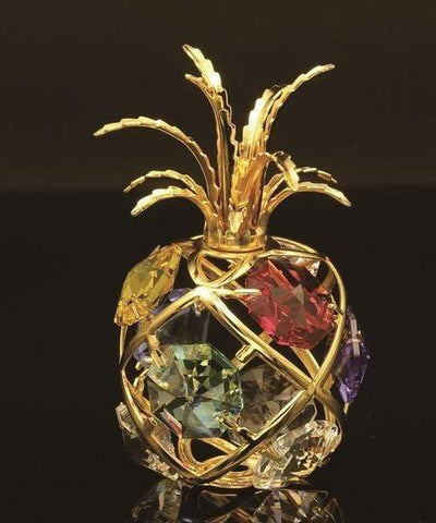 24K gold/silver plated apple with Swarovski - A Horizon Dawn