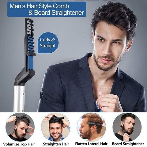 A Horizon Dawn  Men Beard Hair Comb United States / AU PLUG Best Men Beard Straightener and Comb