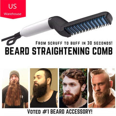 A Horizon Dawn  Men Beard Hair Comb United States / EU PLUG Best Men Beard Straightener and Comb