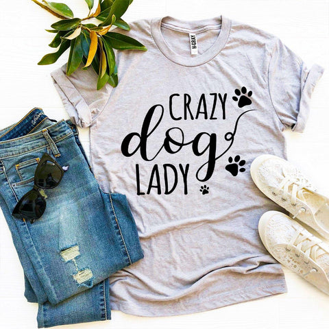 Agate T-shirts 2XL / Heather gray Crazy Dog Lady T-shirt