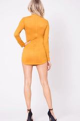 AHD SUEDE MOCK NECK MINI