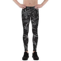 Maroon Sooty Activewear Mens Leggings - Black Camo Leggings