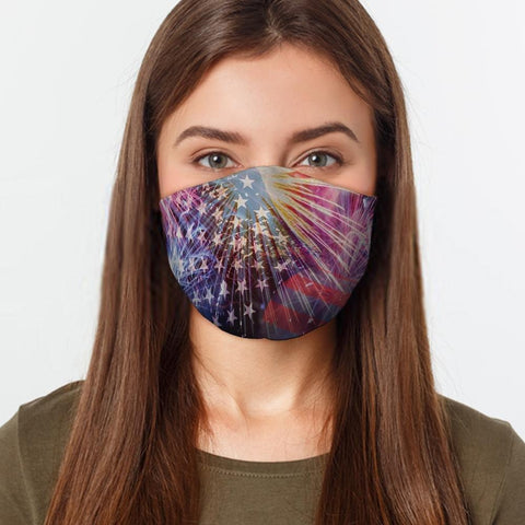 Orange Poppy Face Mask A Neat July Fourth Face Cover
