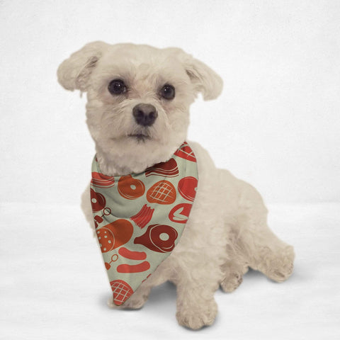 Orange Poppy Pet Dog Meaty Cat & Dog Bandana