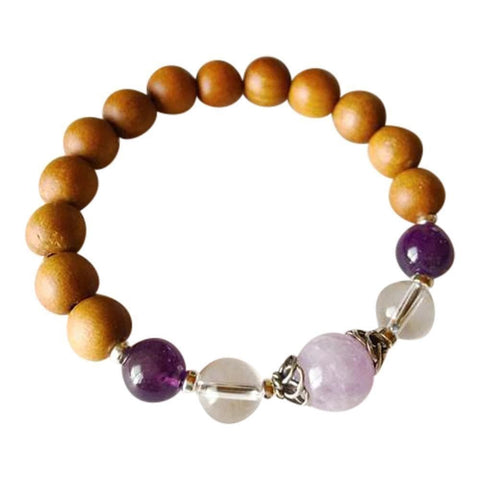 Purple Lily Zen Jewelry & Watches Sandalwood, Amethyst, Cape Amethyst & Crystal