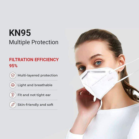 Salmon Hyperion Home & Garden KN95 Protective Face Mask - White - Regular Size - 20PK