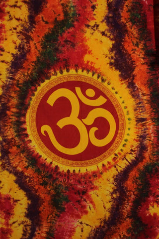 Silver Hestia Home Decor Best Om Shanti in Tie Dye Tapestry