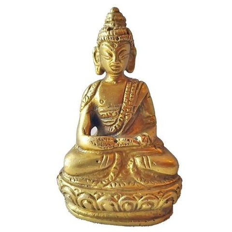 Silver Hestia Stationery & Crafts Little Buddha Brass Statue