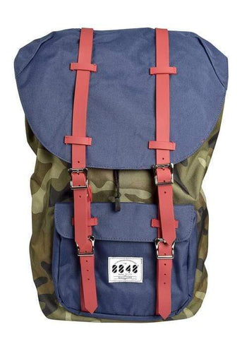 Silver Sand Brier Accessories One Size / Navy and Red Backpack,Travel Hiking & Camping Rucksack Pack,