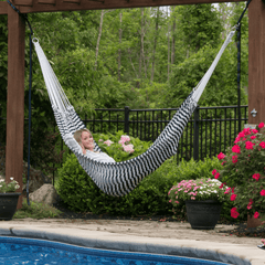 A Traditional Hammock (Navy & White)