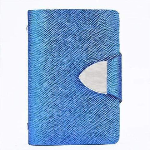 Turquoise Chloe Wallets, Purse, Blue Stainless Steel Metal Purse Card Holder