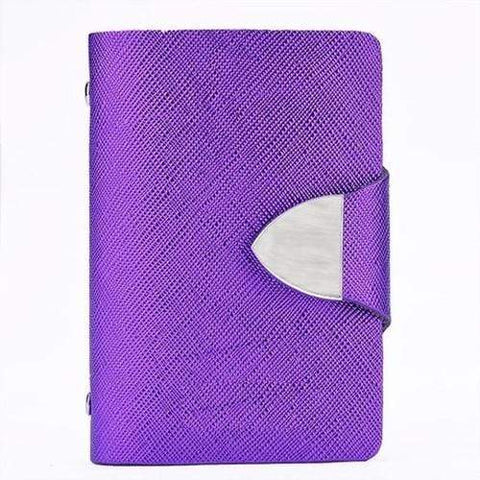 Turquoise Chloe Wallets, Purse, Purple Stainless Steel Metal Purse Card Holder