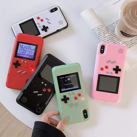 White Libra Tech Accessories Retro Nostalgic Gaming 36 Color Games iPhone Case