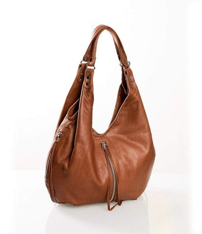 Yellow Eleusis Bags & Wallets Cognac leather hobo bag - BEST SELLER!