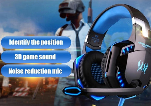 Yellow Pandora Tech Accessories Ninja Dragon G9300 LED Gaming Headset with Microphone
