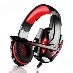 Yellow Pandora Tech Accessories Red Ninja Dragon G9300 LED Gaming Headset with Microphone