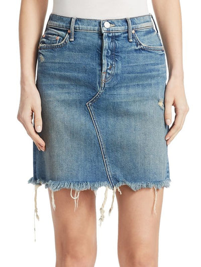 Mother The Tomcat Mini Skirt Fray in Playing Dirty Wash 9145-259