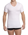 NaKed Men's Cotton V-Neck Undershirt White CVU-W