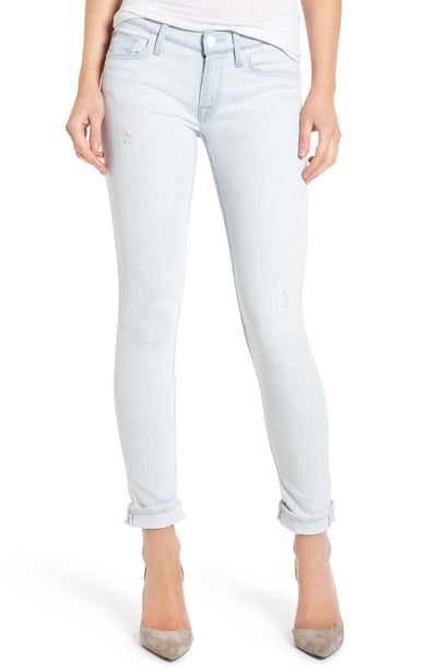 Hudson Women's Tally Crop Skinny Jeans in Lightweight Wash WC4201DGC