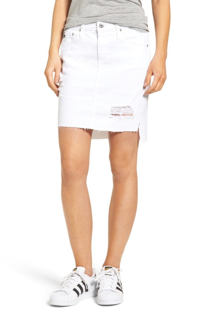 f4dfccef0f AG Jeans Women's The Erin Skirt in White Intuition DSD1538US ...