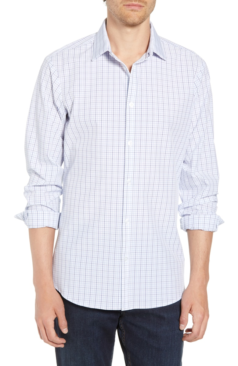 Mizzen+Main Miller Multi Plaid Button Down L-7032