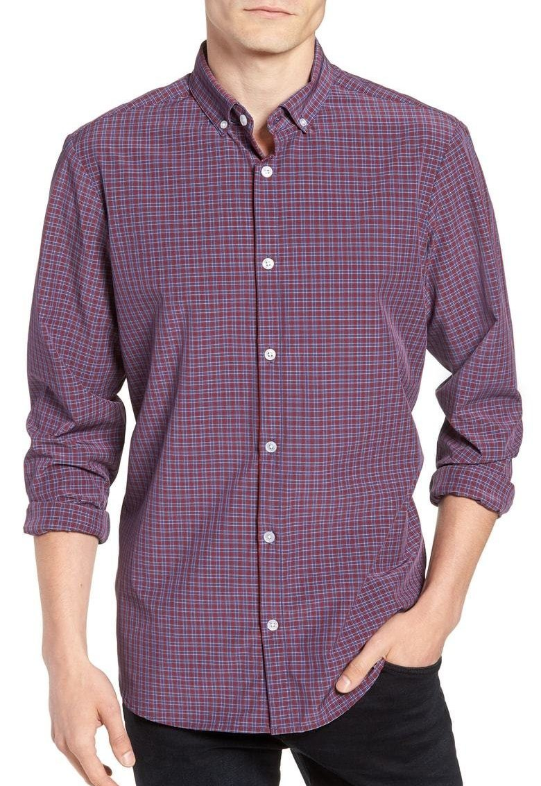 Mizzen+Main Losoya Check Button Down L-7046