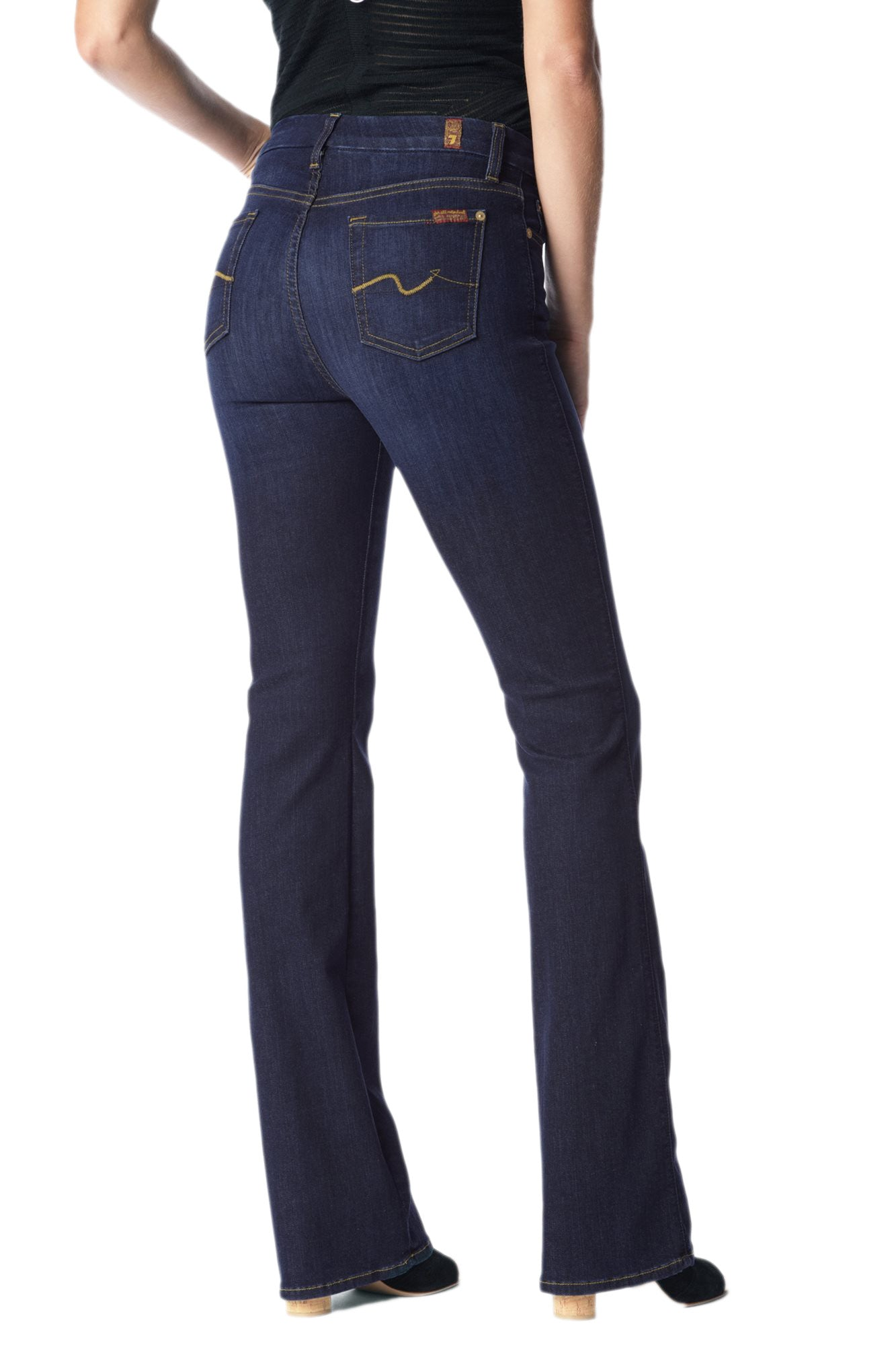 newest style of fashion style of 2019 good reputation 7 For All Mankind Slim Illusion Kimmie Bootcut Jean in Tried & True Blue  AU0156681A