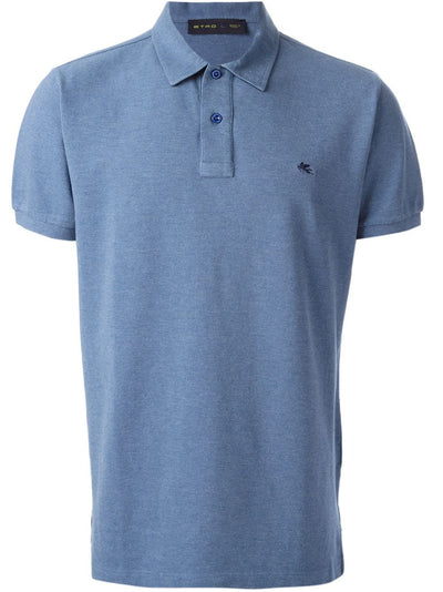 Etro Short Sleeve Polo, Blue