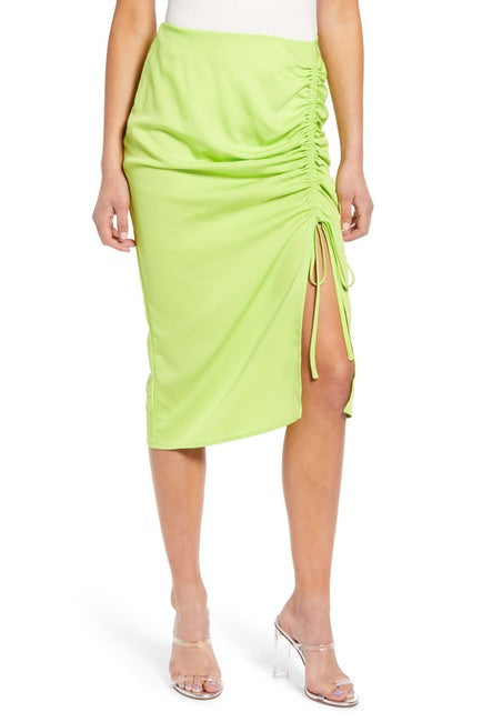 JOA Rouching Pencil Skirt BC8381