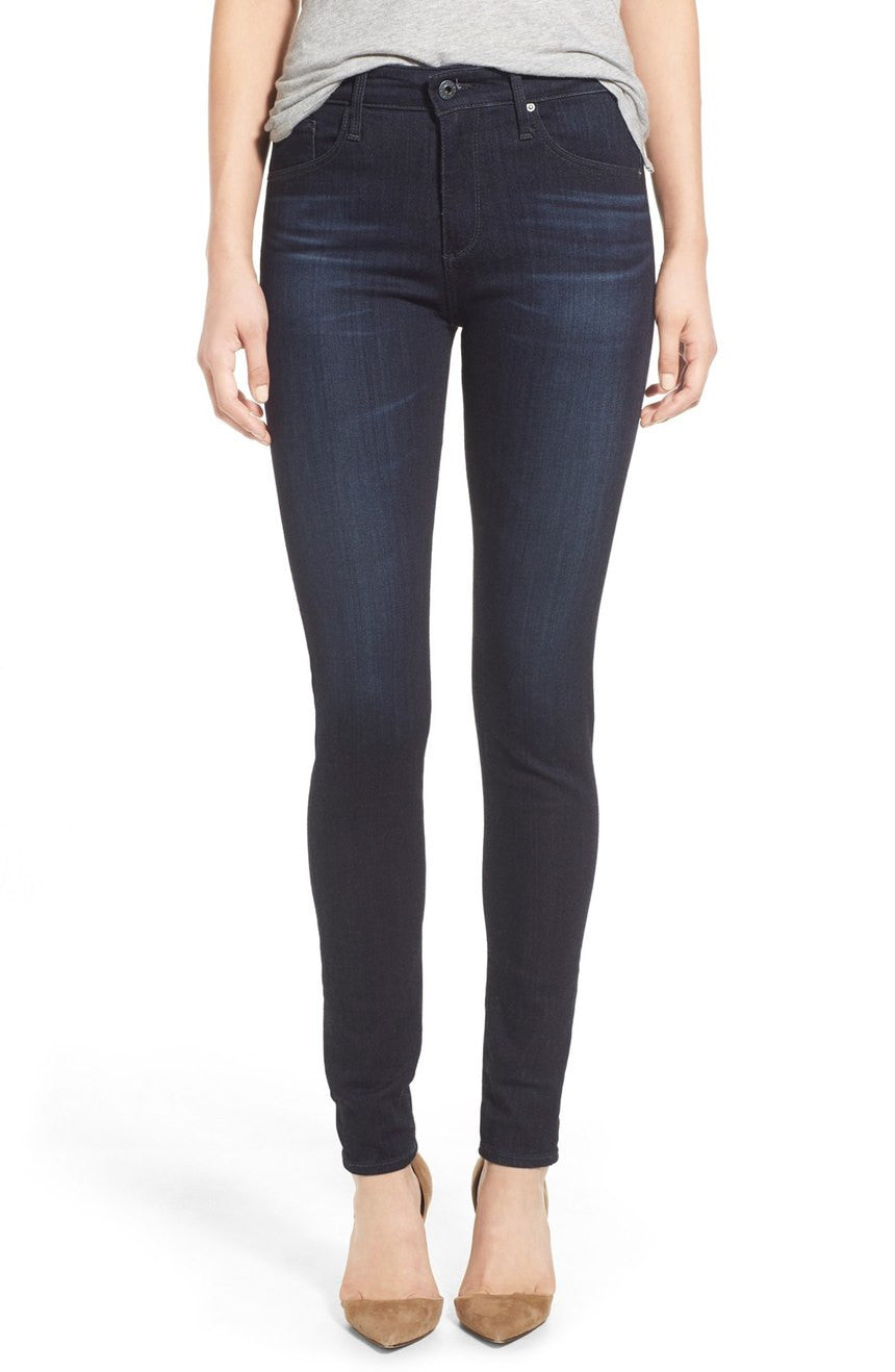 AG The Farrah High Rise Skinny Jeans in Brooks Wash SPD1379 BRK