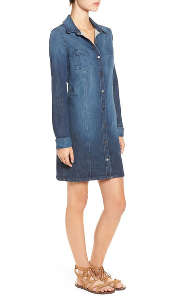 Splendid Cesaire Indigo Shirt Dress in Vintage Dark Wash SD10728VDK