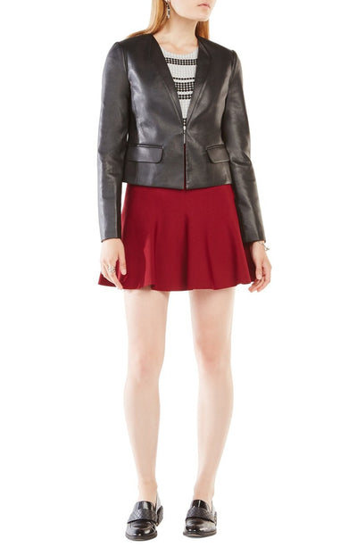 BCBGMAXAZRIA Cruz Faux Leather Jacket in Black RPY4J108