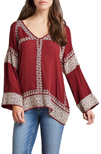 Tularosa Therone Tunic in Mulled Wine TRF16F164