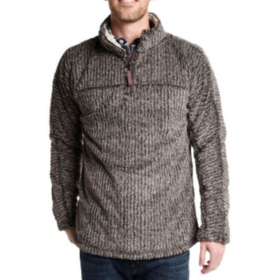 True Grit Frosty Cord Pile 1/4 Zip Pullover 81M65FTC