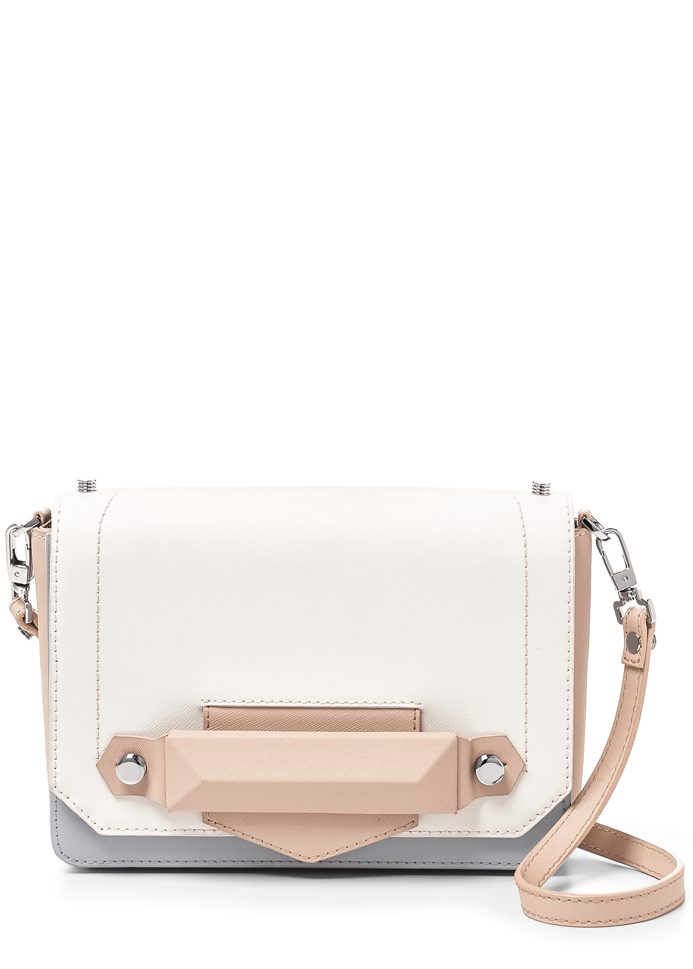 Botkier Reade Crossbody Shoulder in Latte Colorblock 16S1213-SFLSP