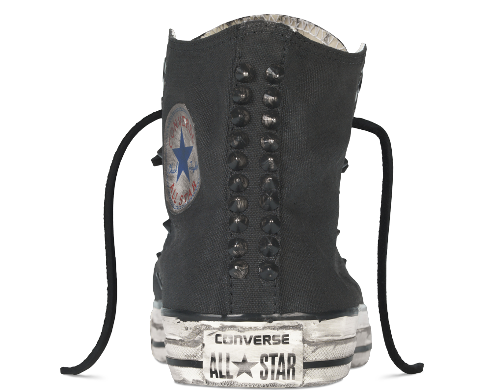 Converse by John Varvatos Painted Hardware Chuck Taylor All Star Hi Top Canvas in Black 145387C