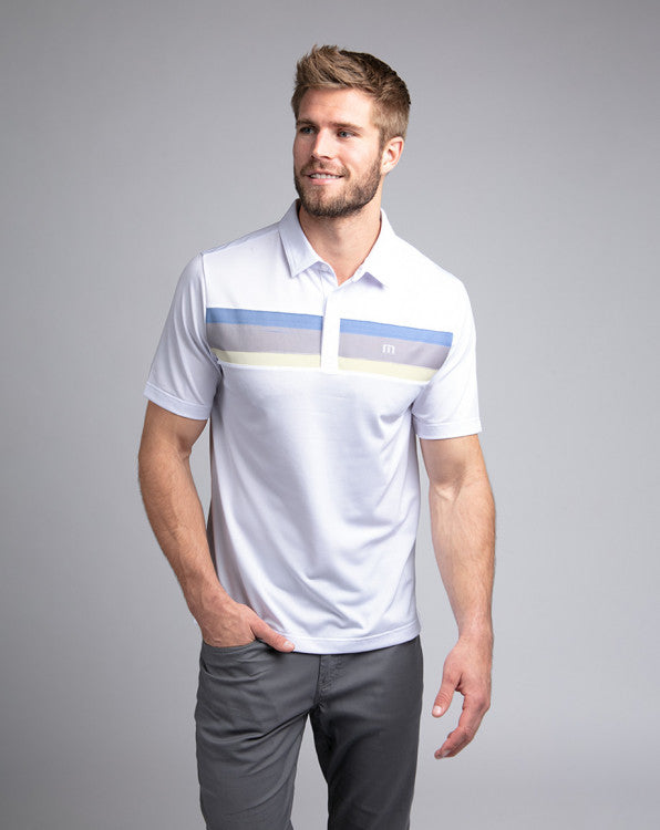 Travis Mathew Oh Life Polo Shirt White 1MQ029
