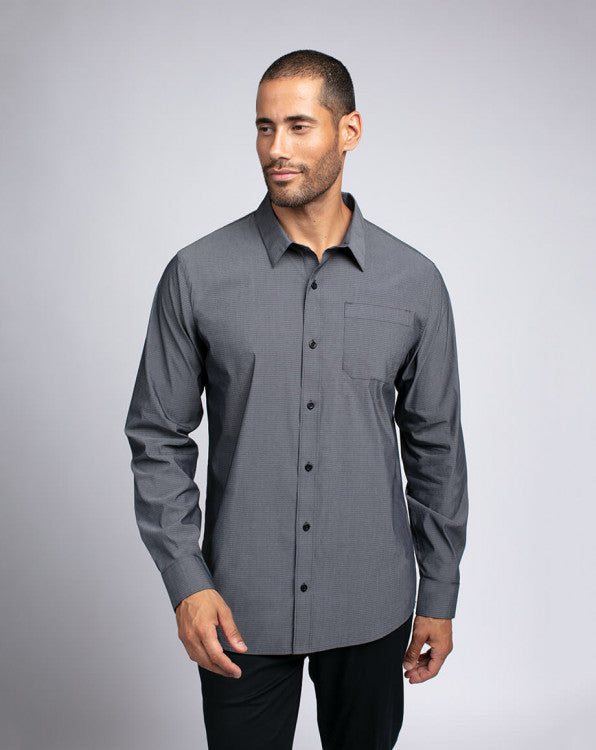 Travis Mathew Let's Do It Again Heather Black Shirt 1MQ220