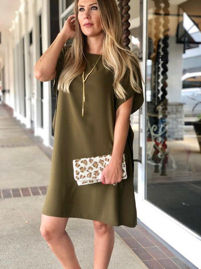 Anna Cate Collection Meredith Dress Olive FA19116D