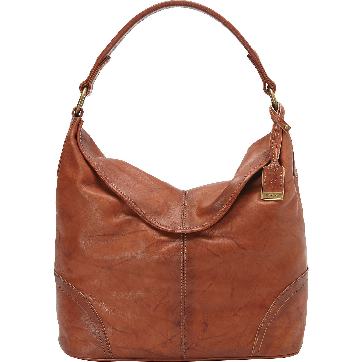 Frye Campus HOBO in Saddle 34DB877-SDL