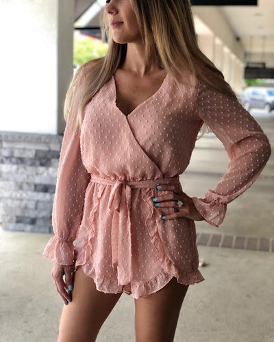 BB Dakota Chiffon My Mind Romper BJ103359